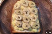 【食らえ俺の男飯!】アレンジ自由のせて焼くだけ簡単「カスタードバナナトースト」!