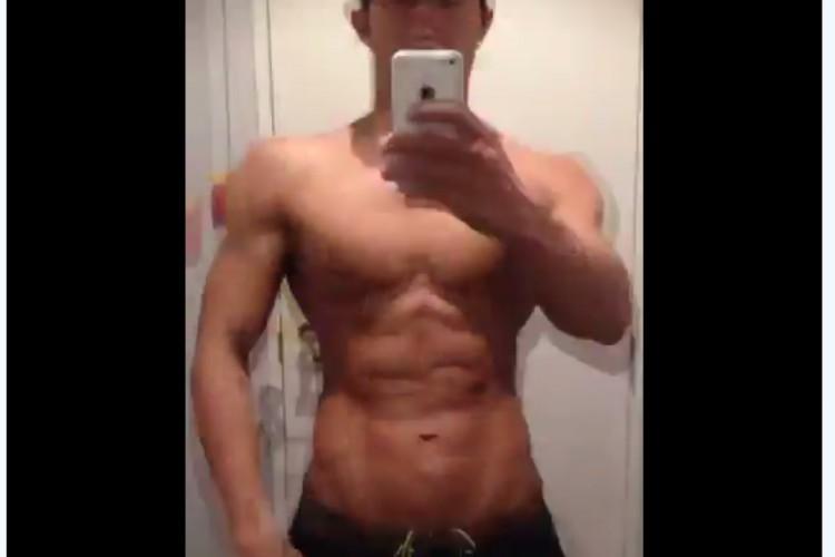 【筋肉速報】1年間の筋トレ成果を15秒にまとめた動画がすごすぎる!