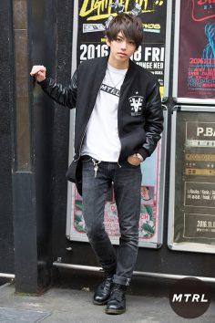 2016年秋の渋谷原宿リアルスタイル【MTRL_SNAP】さりげなくMTRLTシャツを取り入れたアメカジスタイル!りょーが