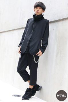 2016年秋の渋谷原宿リアルスタイル【MTRL_SNAP】オールブラックにシルバーアクセを施したモードコーデ!今村 翔太