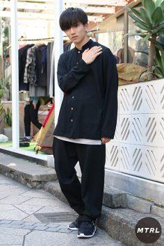 2016年秋の渋谷原宿リアルスタイル【MTRL_SNAP】モード感漂うオールブラックコーデ!高木 颯