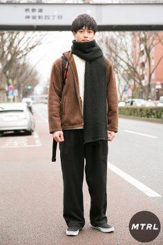 2017年冬の渋谷原宿リアルスタイル【MTRL_SNAP】ゆるシルエットで作るカジュアルコーデ 石井啓章