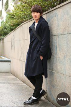 2017年春の渋谷原宿リアルスタイル【MTRL_SNAP】色味を落ち着かせ大人めモテコーデ ユウキ