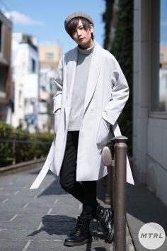 2017年春の渋谷原宿リアルスタイル【MTRL_SNAP】ライトグレーで春を意識したモテスタイル りょま