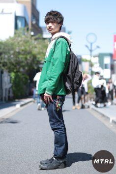 2017年春の渋谷原宿リアルスタイル【MTRL_SNAP】今年流行りのグリーンをメインにした春スタイル 西野裕也