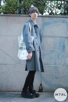 2017年春の渋谷原宿リアルスタイル【MTRL_SNAP】古着をキレイに取り入れたクリーンコーデ ストウユウダイ