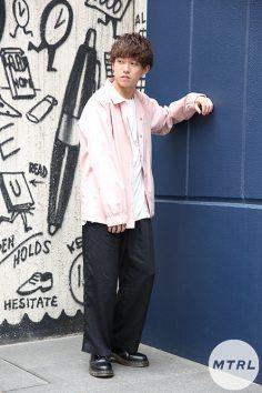 2017年春夏の渋谷原宿リアルスタイル【MTRL_SNAP】今期大流行のピンクを使ったコスパ◎コーデ 増本楓雅