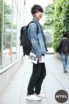 2017年春の渋谷原宿リアルスタイル【MTRL_SNAP】レイヤードで差をつけた爽やかコーデ ワタナベ ヒロト