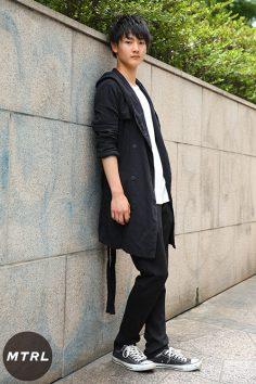 2017年春夏の渋谷原宿リアルスタイル【MTRL_SNAP】オールブラックで決めたスタイルUPコーデ スナダセイヤ