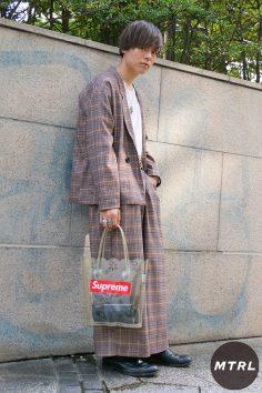 2017年渋谷原宿秋のリアルスタイル【MTRL_SNAP】古着の上級者セットアップコーデ 山田唯雅