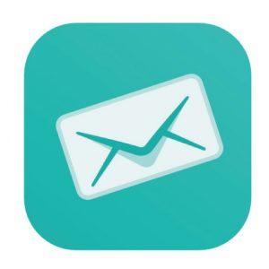 Sarahah(サラハ)のアプリアイコン。メールアプリのようなデザインにコンセプトカラーのグリーンが映える。