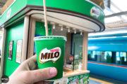【期間限定】ミロスタンドが小田急線町田駅ホームに誕生!